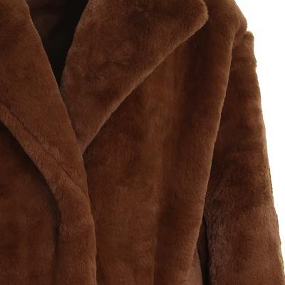 jacket collar fur coat brown